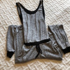 Gray Black romper.
